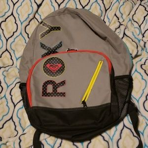 ROXY gray and black backpack